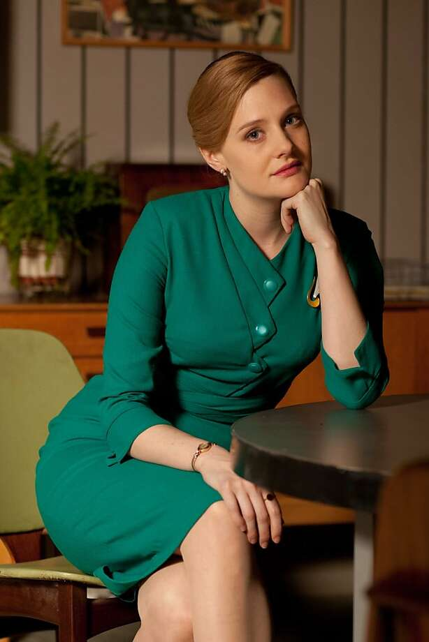 "Romola Garai is journalist Bel Rowley in the BBC's ""The Hour,"" set in the 1950s. Photo: Laurence Cendrowicz / Kudos, BBC"