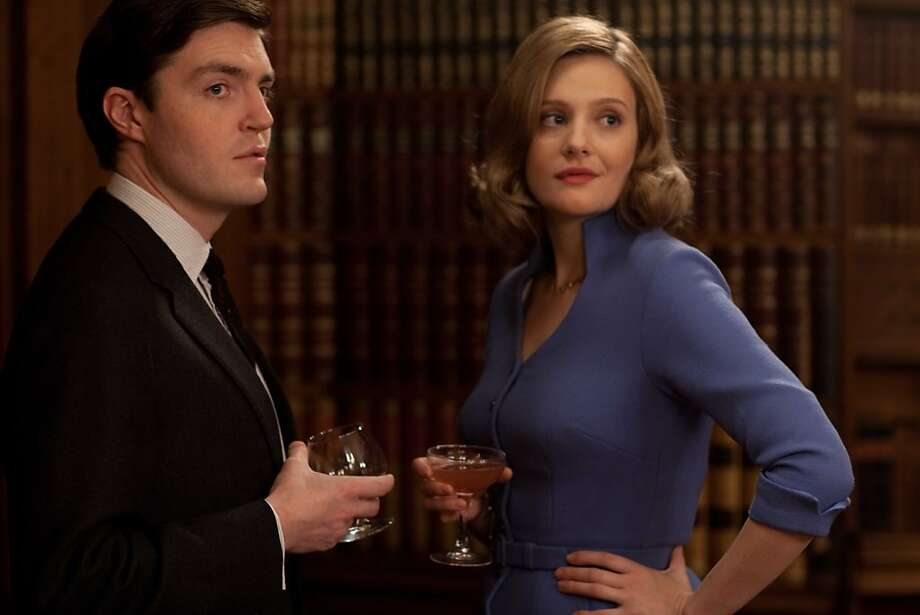 """Bill Kendall (Tom Burke) and Bel (Romola Garai) in """"The Hour,"""" which focuses on complex characters' lives. Photo: Laurence Cendrowicz / Kudos, BBC"""