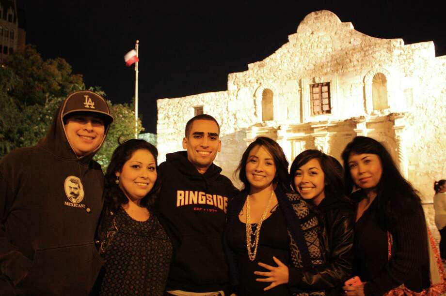 Crowds gather downtown to watch the annual H-E-B Tree Lighting Ceremony in Alamo Plaza on Friday, Nov. 23, 2012. Photo: Libby Castillo,  For MySA.com