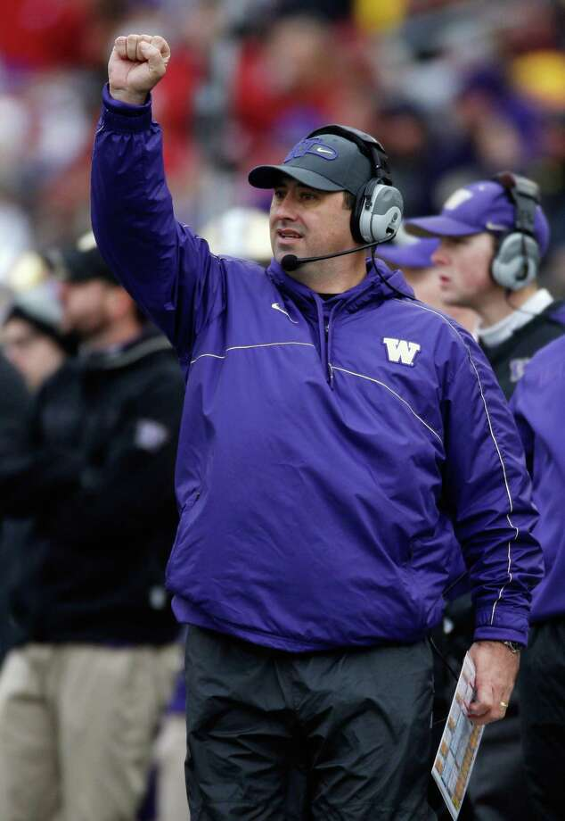 Head coach Steve Sarkisian of the Washington Huskies on the sidelines during the game against the Washington State Cougars. Photo: William Mancebo, Getty Images / 2012 Getty Images