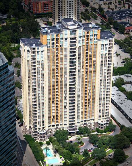 Rents in the luxury high-rise 1200 Post Oak building average $2,578, according to O'Connor & Associates. The 33-story building is on the market. Photo: HFF