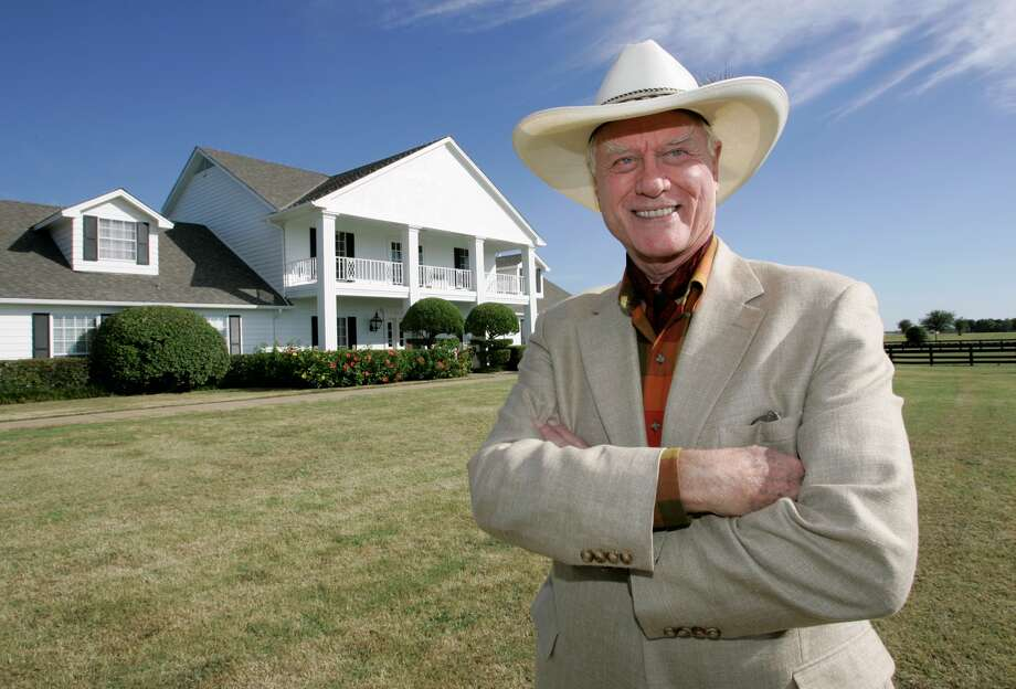 "Larry Hagman returned to Southfork Ranch, site of the long-running TV soap ""Dallas,"" in 2008."