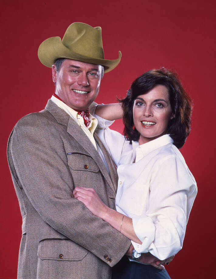 Don't let the smiles fool you. J.R. and Sue Ellen's marriage was anything but blissful in the long-running CBS show.