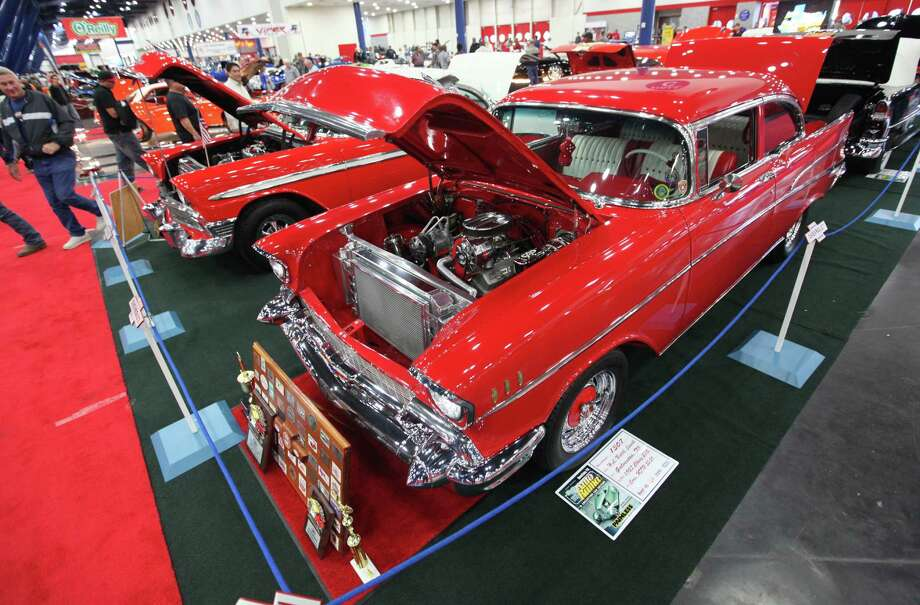 A 1957 Chevy 210 is on display at the 53rd Annual AutoRama car show at George R. Brown Convention Center on Saturday, Nov. 24, 2012, in Houston. Photo: Mayra Beltran, Houston Chronicle / © 2012 Houston Chronicle