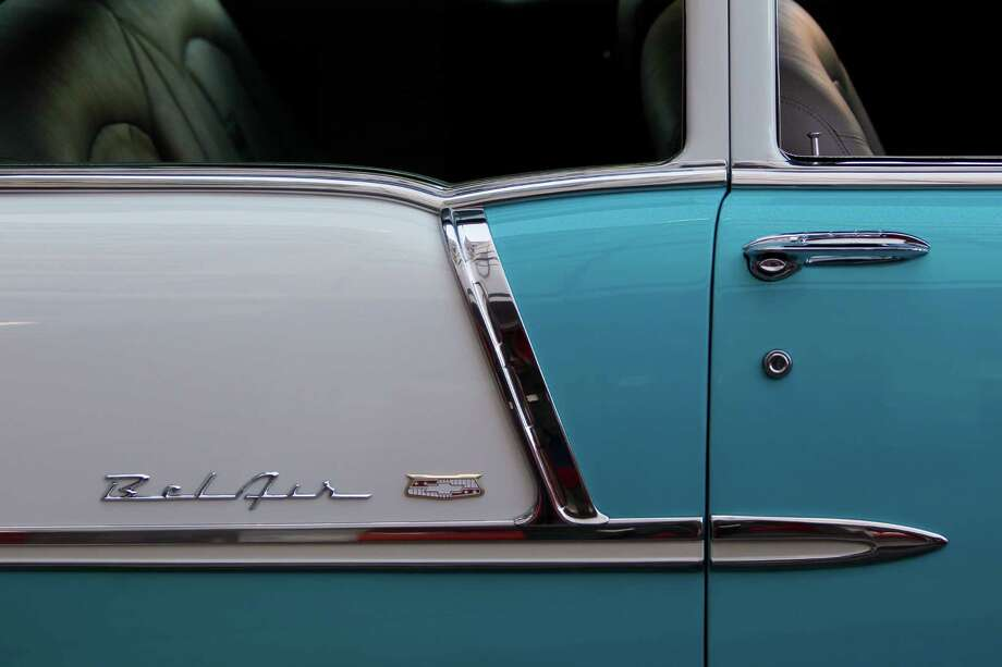 A 1955 Belair is on display. Photo: Mayra Beltran, Houston Chronicle / © 2012 Houston Chronicle