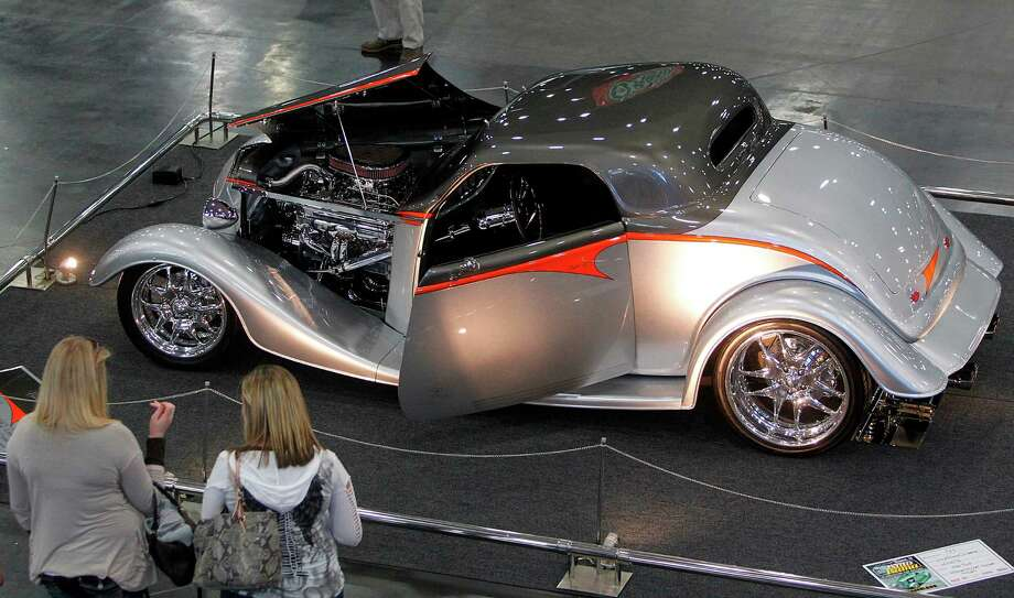 A 1933 Ford Coupe is on display at the convention center. Photo: Mayra Beltran, Houston Chronicle / © 2012 Houston Chronicle