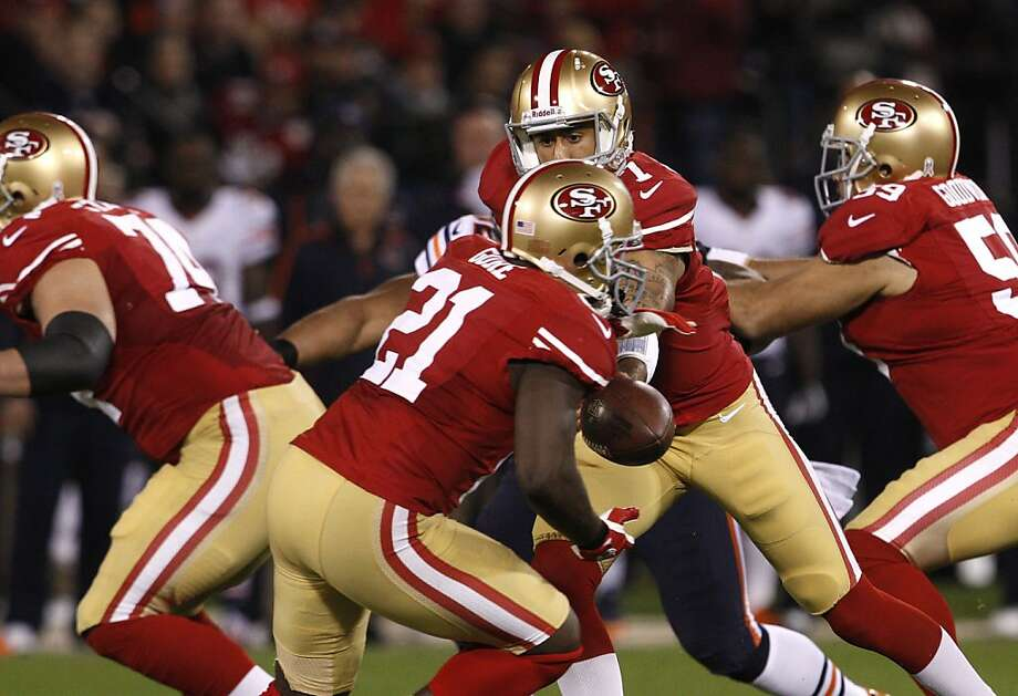 Frank Gore is likely to take handoffs from Colin Kaepernick against a Saints defense ranked last in the NFL. Photo: Carlos Avila Gonzalez, The Chronicle