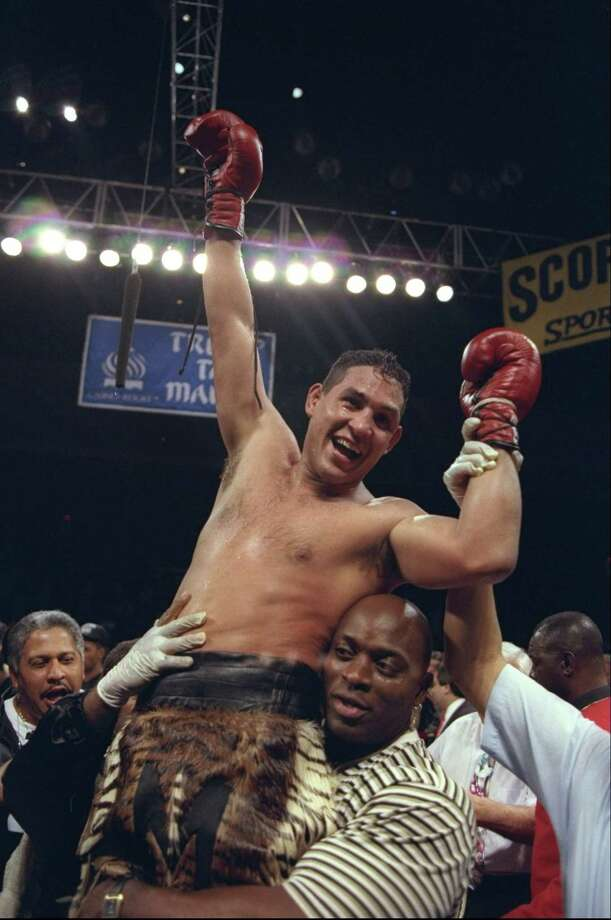 "Hector ""Macho"" Camacho celebrates a win over Roberto Duran. His career saw fights against stars Duran, Oscar De La Hoya, and Sugar Ray Leonard. Photo: Al Bello, Staff / Getty Images North America"