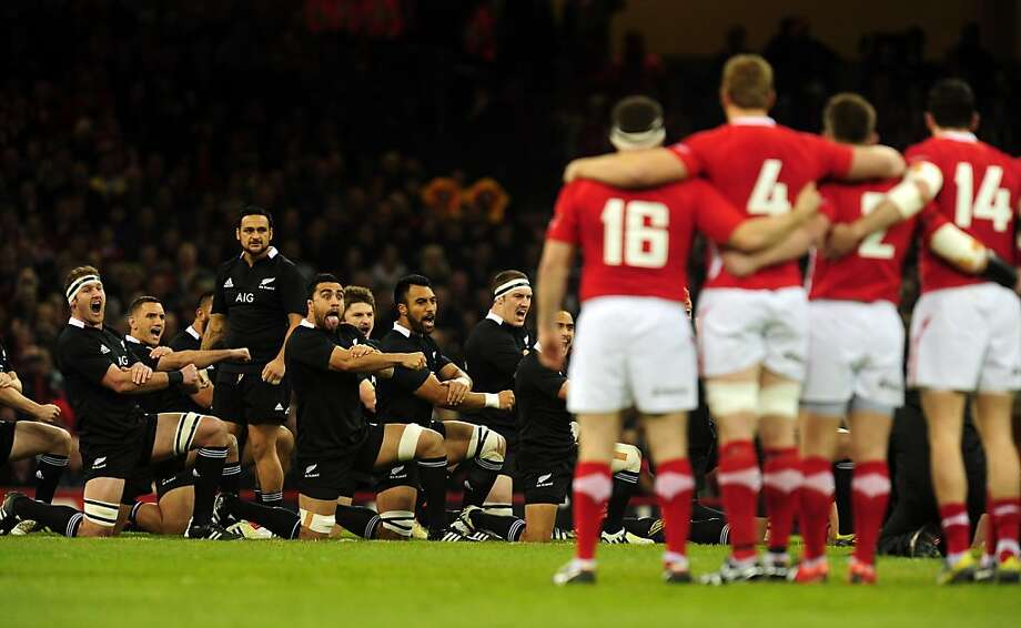 CARDIFF, WALES - NOVEMBER 24:  The New Zealand All Blacks perform the Haka before the International Match between Wales and New Zealand at Millennium Stadium on November 24, 2012 in Cardiff, Wales.  (Photo by Stu Forster/Getty Images) Photo: Stu Forster, Getty Images