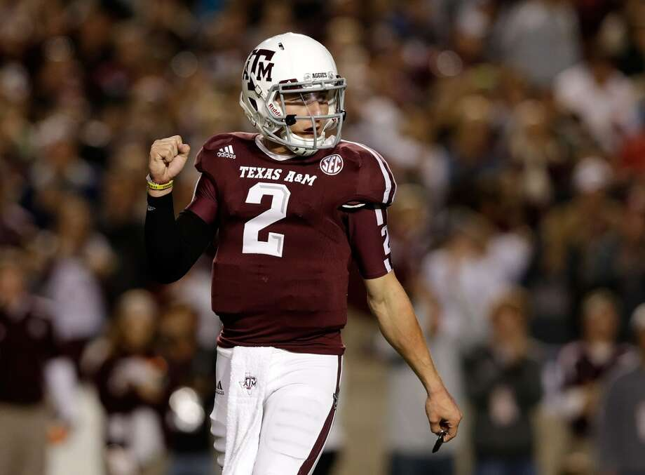 Texas A&M quarterback accounted for five touchdowns in a 59-29 win over Missouri despite getting hurt early in the game and coming back with a knee brace on. Scott Halleran / Getty Images