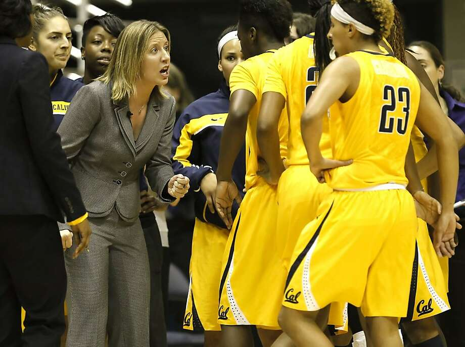 Cal head caoch Lindsay Gottlieb rallies her team in the first half, as the California women take on the Georgetown Hoyas in the championship game of the Cal Classic basketball tournament at Haas Pavilion in Berkeley, Calif.  on Saturday Nov. 24, 2012. Photo: Michael Macor, The Chronicle