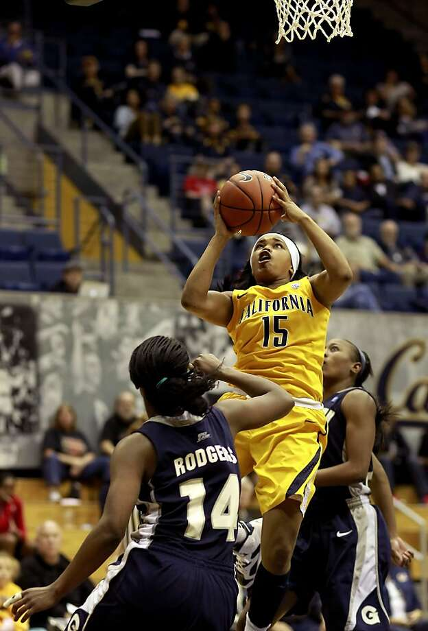 Cal's Brittany Boyd (15) up for a shot in the seocnd half, as the California women went on to beat the Georgetown Hoyas in the championship game 72-56 in the Cal Classic basketball tournament at Haas Pavilion in Berkeley, Calif.  on Saturday Nov. 24, 2012. Photo: Michael Macor, The Chronicle