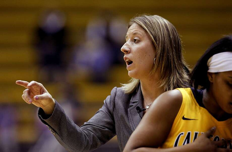 Cal's head coach Lindsay Gottleib shouts plays as the California women went on to beat the Georgetown Hoyas in the championship game 72-56 in the Cal Classic basketball tournament at Haas Pavilion in Berkeley, Calif.  on Saturday Nov. 24, 2012. Photo: Michael Macor, The Chronicle