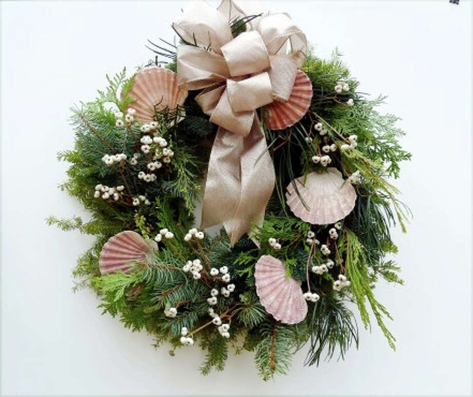 Hand-crafted wreaths are among the items for sale at the Rowayton Gardeners' Christmas Market. Photo: Contributed