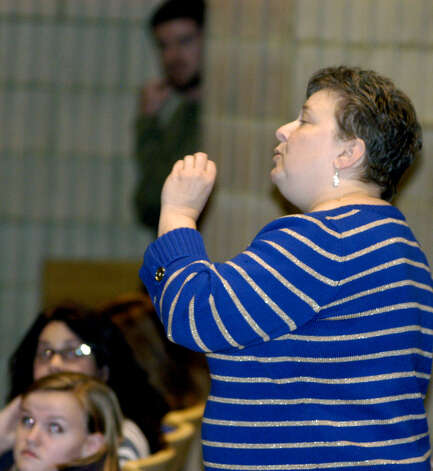A forum held Nov. 14, 2012 at Shepaug Valley Middle/High School in Washington to discuss block scheduliing. Photo: Norm Cummings