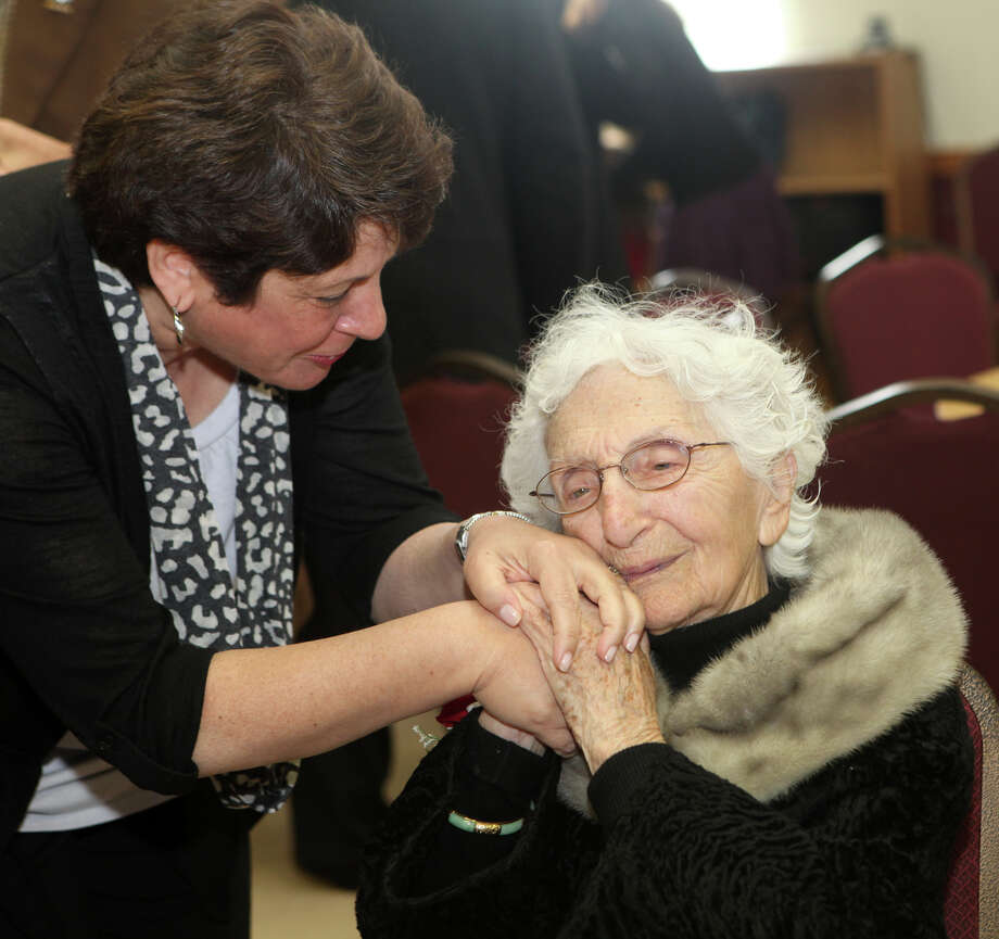 Friends and family congratulate John and Ann Betar, of Fairfield, as they celebrate their 80th anniversary at St. Nicholas Antiochian Orthodox Church, in Bridgeport, Conn. on Sunday, November 25, 2012. Photo: BK Angeletti, B.K. Angeletti / Connecticut Post freelance B.K. Angeletti