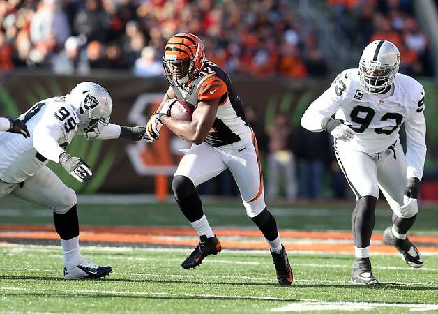 CINCINNATI, OH - NOVEMBER 25:  Mohamed Sanu #12  of the Cincinnati Bengals runs with the ball during the NFL game against the Oakland Raiders at Paul Brown Stadium on November 25, 2012 in Cincinnati, Ohio.  (Photo by Andy Lyons/Getty Images) Photo: Andy Lyons, Getty Images