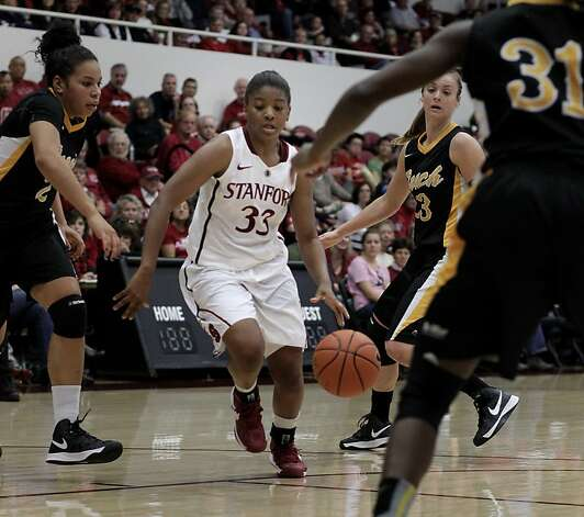 Stanford's Amber Orrange (33) scored early to spark No. 1 Stanford. She had nine assists. Photo: Brant Ward, The Chronicle