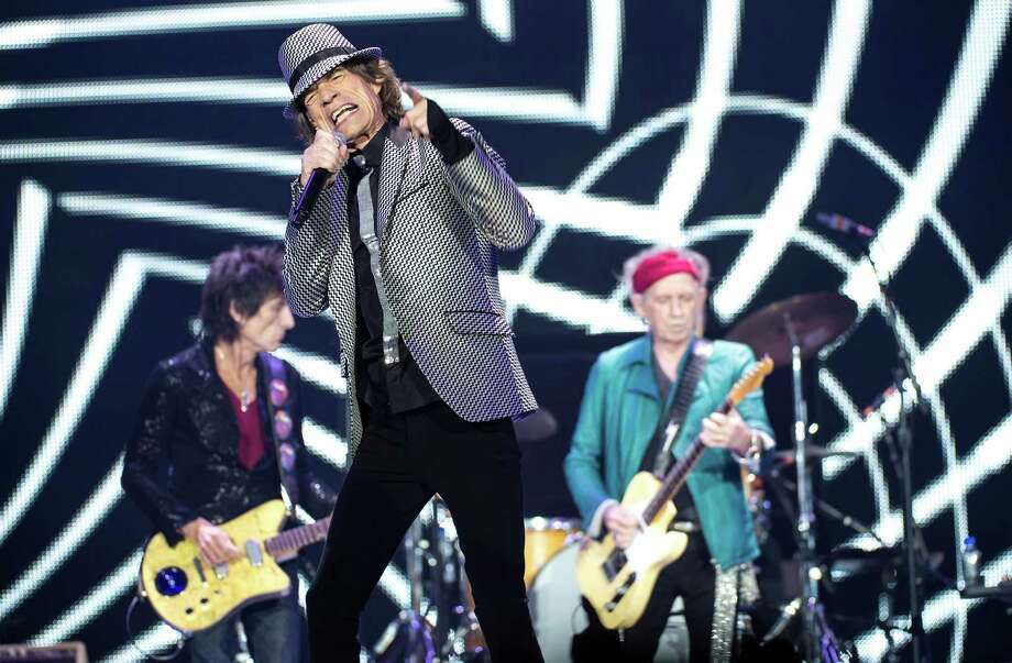 LONDON, ENGLAND - NOVEMBER 25: (STRICTLY EDITORIAL USE ONLY) Ronnie Wood, Mick Jagger and Keith Richards of The Rolling Stones perform live at 02 Arena on November 25, 2012 in London, England. Photo: Ian Gavan, Getty Images / 2012 Getty Images