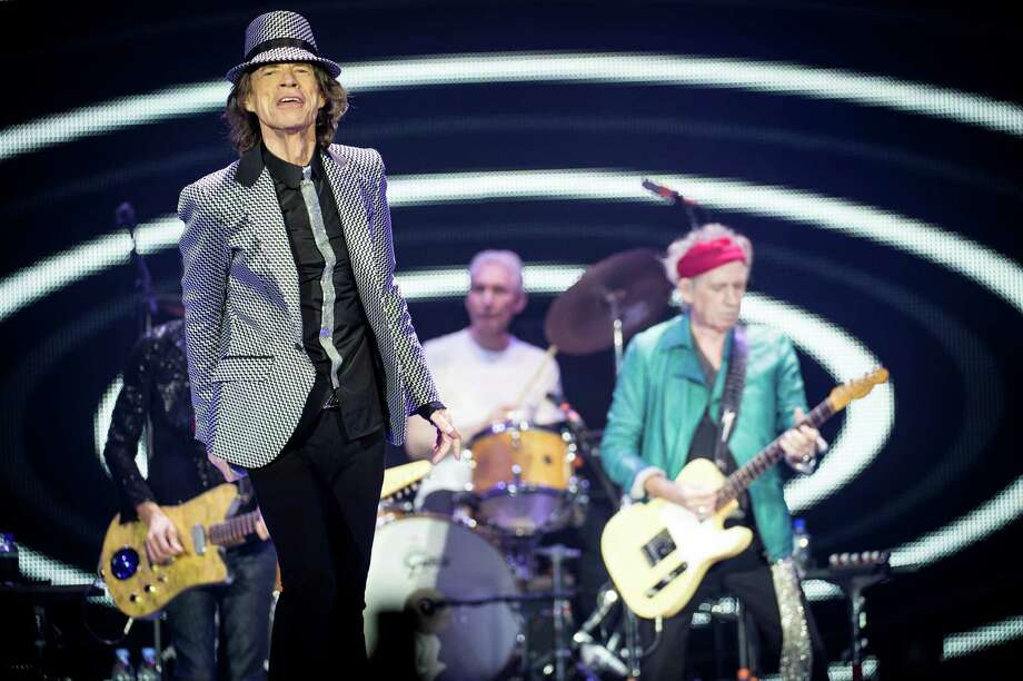 LONDON, ENGLAND - NOVEMBER 25: (STRICTLY EDITORIAL USE ONLY) Mick Jagger, Charlie Watts and Keith Richards of The Rolling Stones perform live at 02 Arena on November 25, 2012 in London, England. Photo: Ian Gavan, Getty Images / 2012 Getty Images