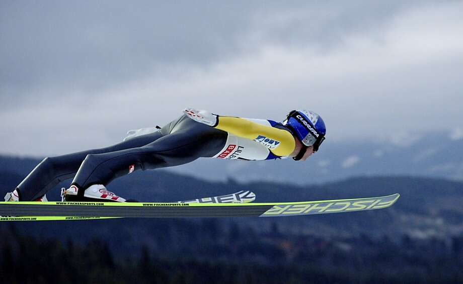 Austria's Thomas Morgenstern competes during the FIS Ski Jumping World Cup in Lillehammer, Norway on November 25, 2012. Morgenstern places third. AFP PHOTO / SCANPIX NORWAY - Stian Lysberg Solum Photo: Stian Lysberg Solum, AFP/Getty Images
