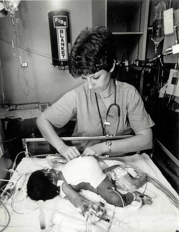 Conjoined twin Ashleigh Petry, shortly after the operation that separated her from her twin Alma on Nov. 27, 1984 when the babies were just one day old. Photo: Courtesy Photo