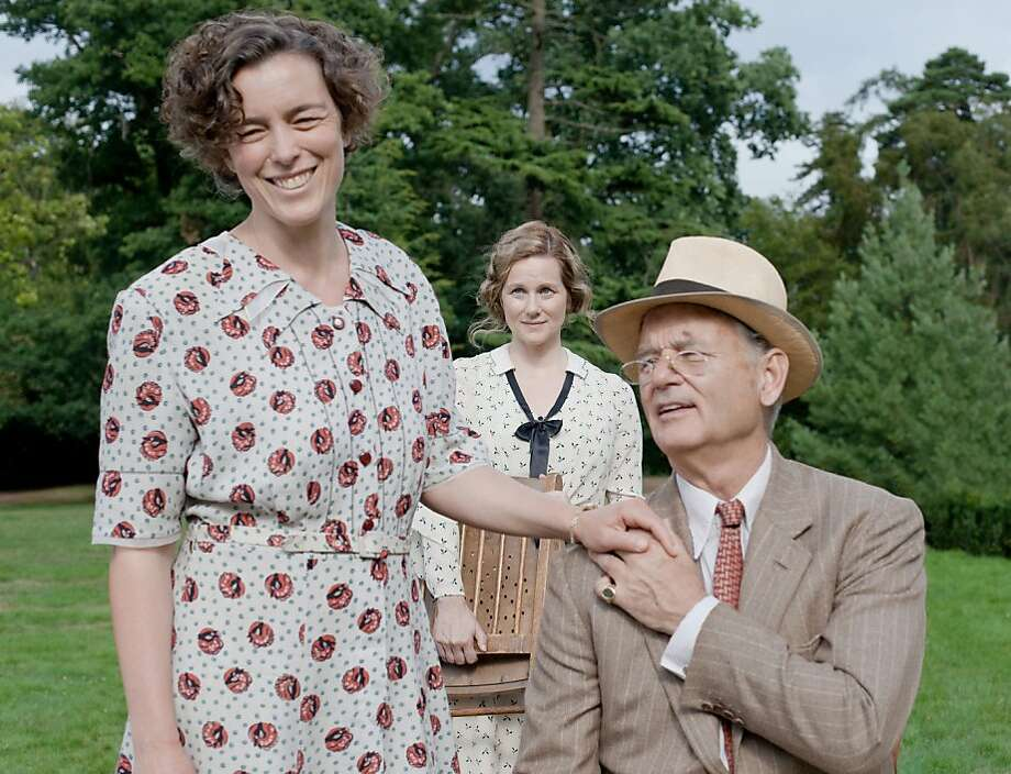 """Hyde Park on Hudson"" covers a weekend involving Eleanor Roosevelt (Olivia Williams, left), Daisy (Laura Linney) and President Roosevelt (Bill Murray). Photo: Nicola Dove, FOcus Features"