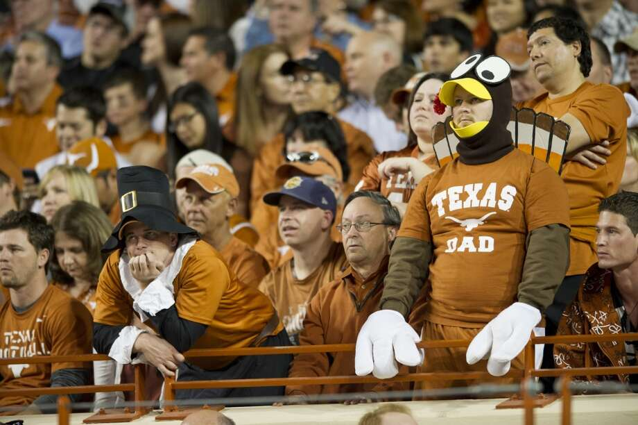 3. Texas (8-3, next game: Saturday @ Kansas State) -- If the Longhorns keep struggling on Thanksgiving night as benevolent hosts as they have recently, it might be a good idea to let them play occasionally play on the road on the holiday. (Getty Images)