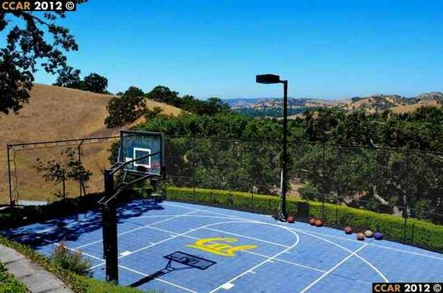 Basketball court with Cal symbol - Go Bears!