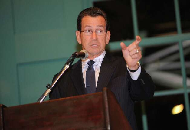 Gov. Dannel P. Malloy speaks at the second annual ConnCAN Block Party, an event celebrating the passage of Connecticut's education reform bill iat the Arch Street Teen Center in Greenwich, Thursday, Nov. 15, 2012. Photo: Helen Neafsey / Greenwich Time