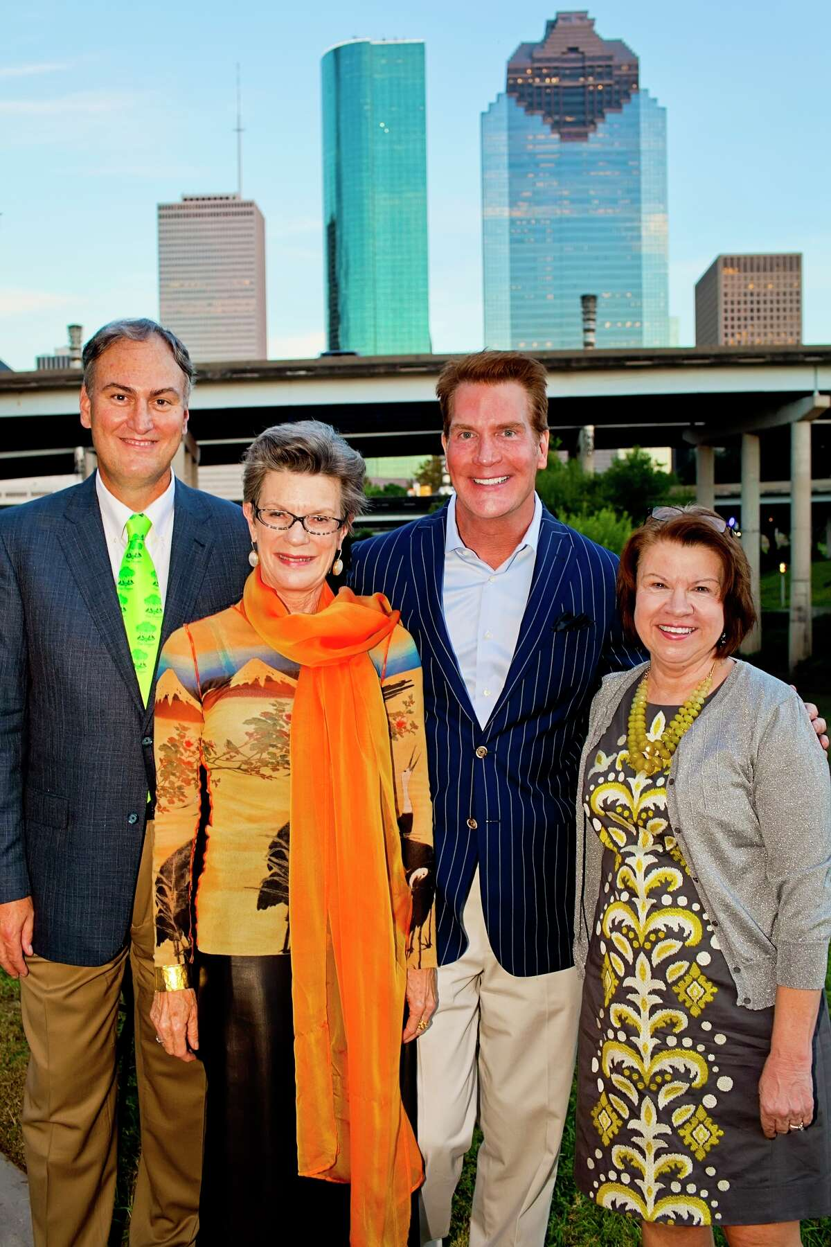 Honoree Mark Cover, from left, chairs Marley Lott and George Lancaster, and president Anne Olson at the Buffalo Bayou Partnership's 2012 gala.