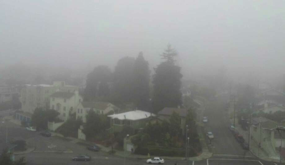A heavy layer of fog has covered the Bay Area this morning, delaying flights at SFO. Photo: SF Gate / Douglas Zimmerman