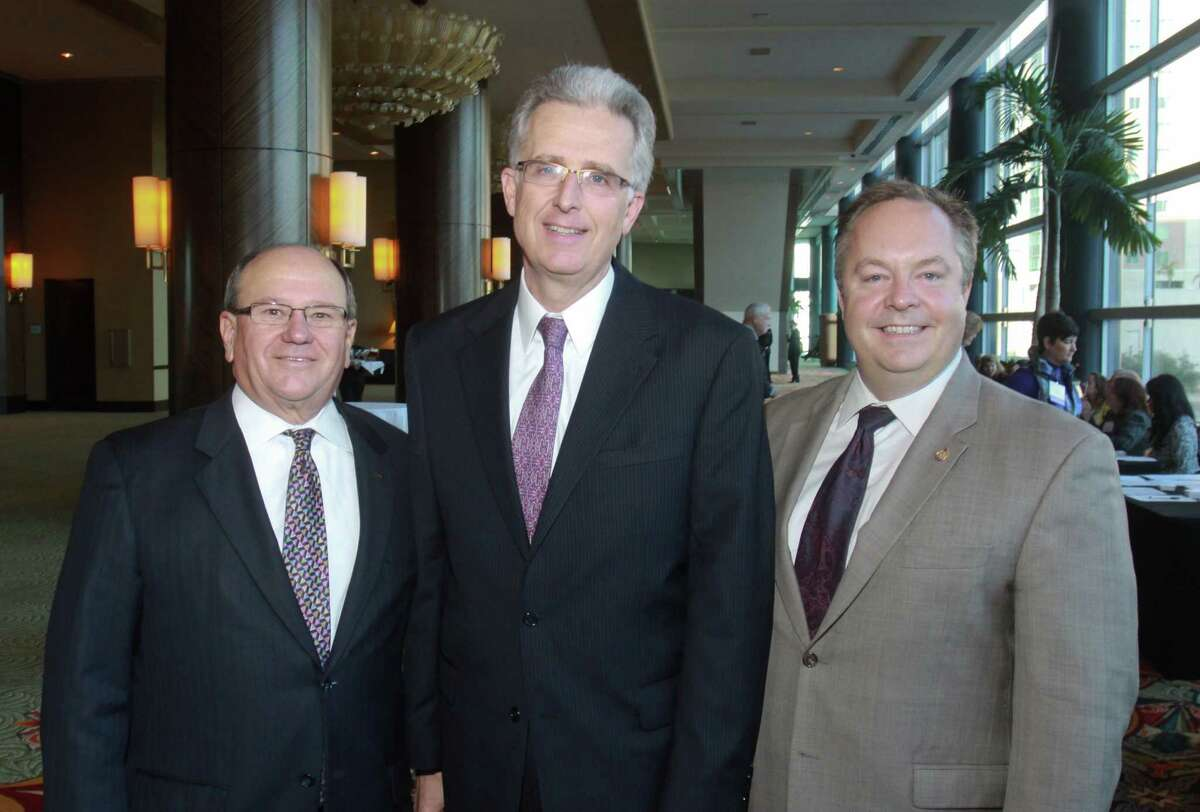 Honorees Patrick B. Mulvey, from left, Tom Moore and Michael D. Delzotti