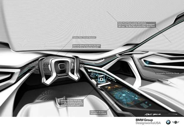 This is an interior view of the  E-Patrol (Human-Drone Pursuit Vehicle). Photo: .