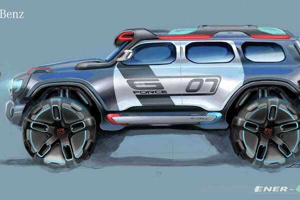 Mercedes-Benz Ener G-Force was designed to deal with any terrain. The car was entered in the CHiP Design Challenge.