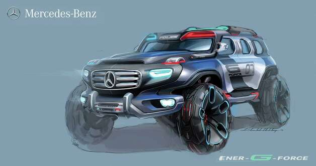 Mercedes-Benz Ener G-Force was designed to deal with any terrain. The car was entered in the CHiP Design Challenge. Photo: .