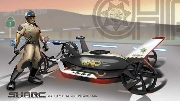 Subaru designed its Subaru Highway Automated Response Concept vehicles to deal with any problem. The cars run on renewable energy. Photo: .