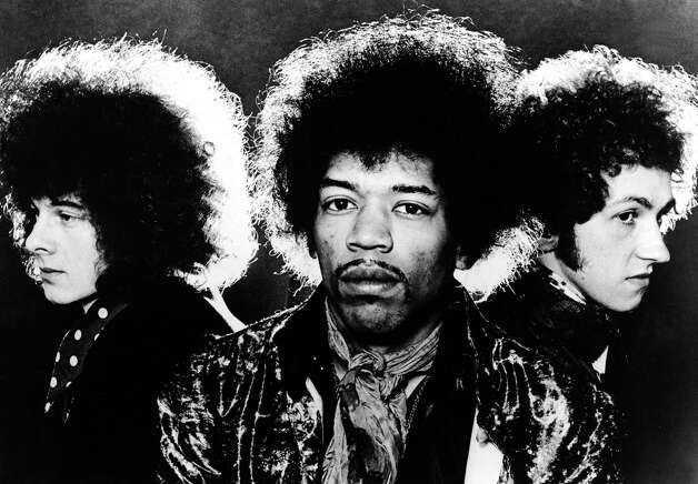 Portrait of the rock group The Jimi Hendrix Experience, left to right, Noel Redding , Jimi Hendrix and Mitch Mitchell in 1968. Photo: Hulton Archive, Getty / Hulton Archive