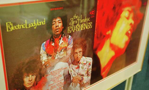 :  A picture of  Jimi Hendrix is seen ahead of the Pop Memorabilia auction at Christie's South Kensington on Sept, 29, 2004, in London.  Photo: Gareth Cattermole, Getty / 2004 Getty Images