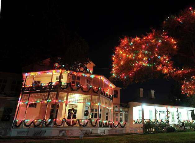 "The George Washington Brackenridge Villa shines as part of the ""Light the Way"" Christmas display on the campus of the University of the Incarnate Word on Saturday, Nov. 24, 2012. The lights will shine through January 6, 2013. Photo: Billy Calzada, San Antonio Express-News / SAN ANTONIO EXPRESS-NEWS"