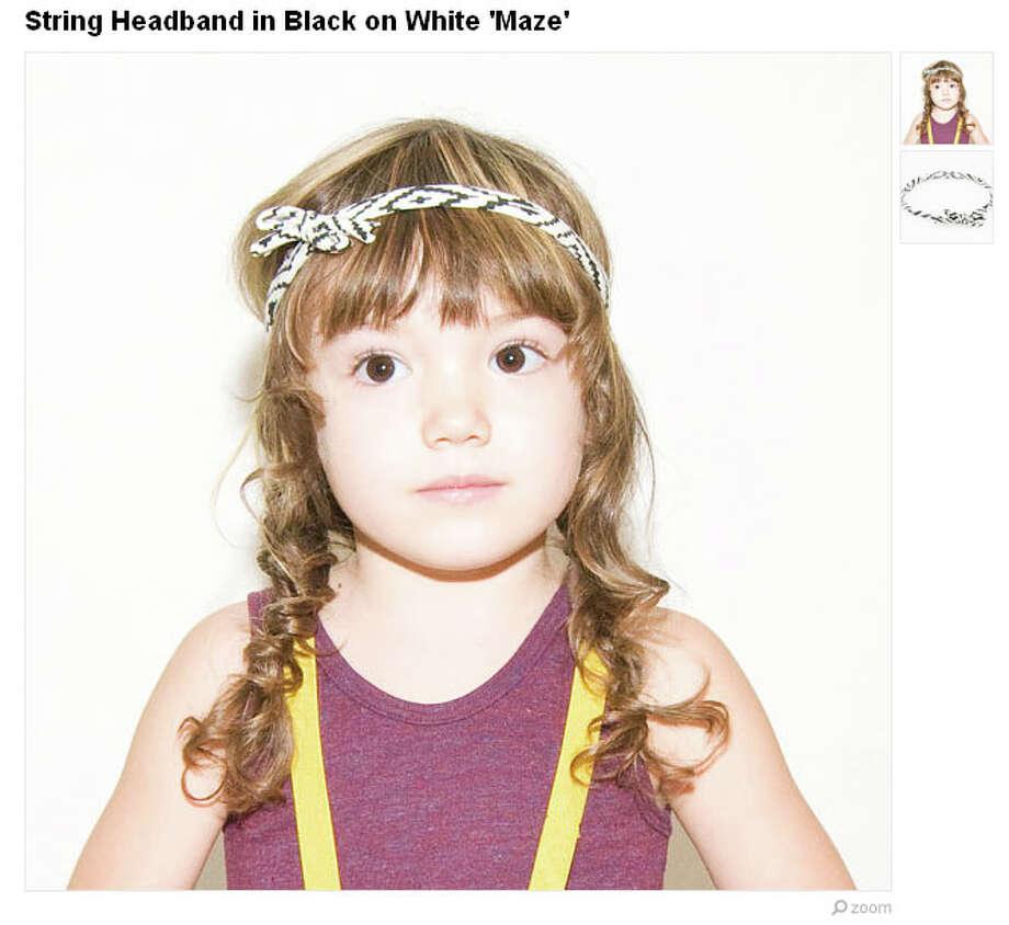 Baby's first headband. (Available from thiefandbanditkids) Photo: Etsy.com