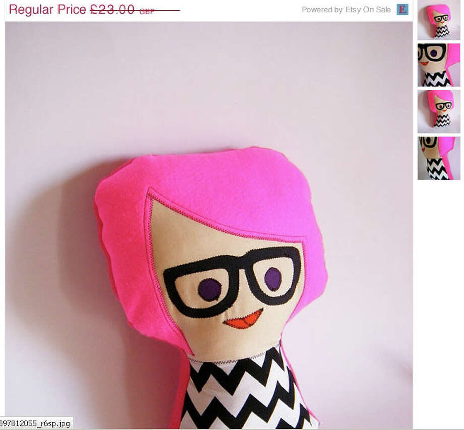 For the hipster baby that has everything: a hipster doll. (Available from QuiltedBlissByNadine) Photo: Etsy.com