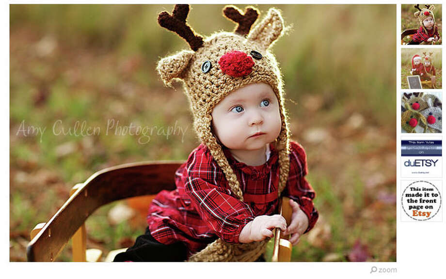 It's not ironic if the person wearing the hat truly believes in Rudolph the Red-Nosed Reindeer. (Available at JojosBootique) Photo: Etsy.com
