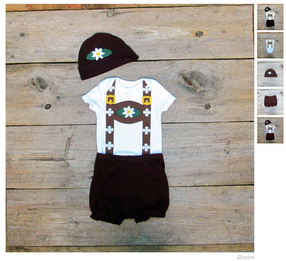 Perfect outfit for baby's first Oktoberfest. (Available from TheWishingElephant) Photo: Etsy.com