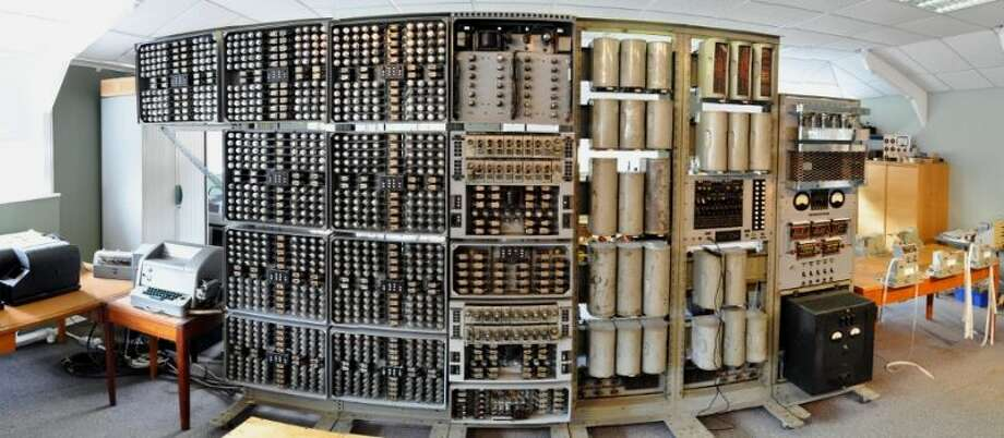Last week, 61 years after it was built and three years after restoration began at The National Museum of Computing, in Bletchley Park, England, the Harwell Dekatron became the world's oldest working digital computer. The nearly 2.8-ton machine uses 828 flashing Dekatron valves, 480 relays and a bank of paper. It works in decimal, unlike most computers, which are binary. Click on for a video and more photos of this and other early 