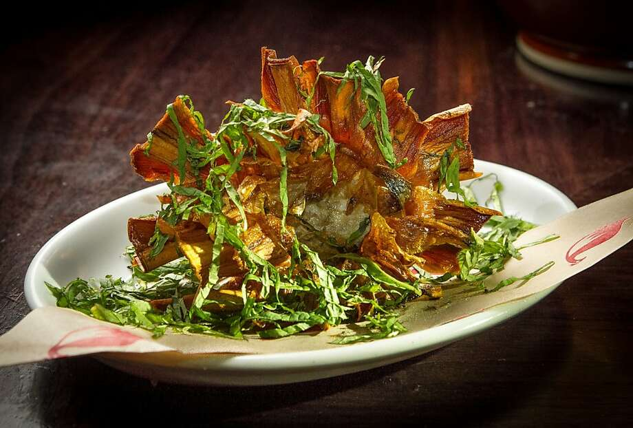 The fried Jewish artichoke appetizer at Locanda. Photo: John Storey, Special To The Chronicle