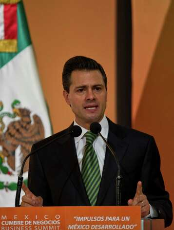 Enrique Peña Nieto may discuss economic cooperation. Photo: RONALDO SCHEMIDT, AFP/Getty Images / AFP