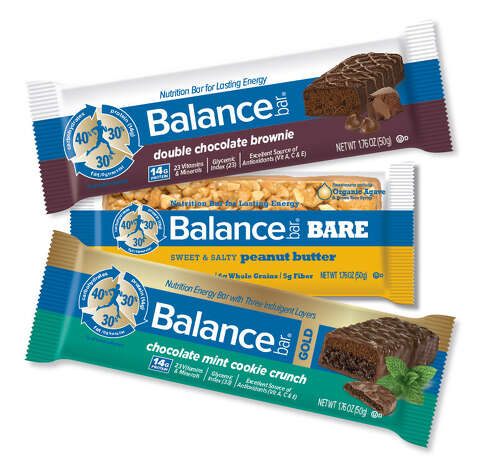 Three of Balance Bar's products, Original, Bare and Gold. Greenwich-based Brynwood Partners has sold the nutrition and energy bar company to NBTY, Inc. Photo: Contributed Photo