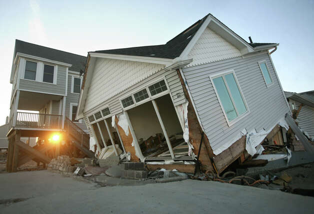 One of the waterfront houses destroyed by Hurricane Sandy in Milford on Monday, November 26, 2012. Photo: Brian A. Pounds / Connecticut Post