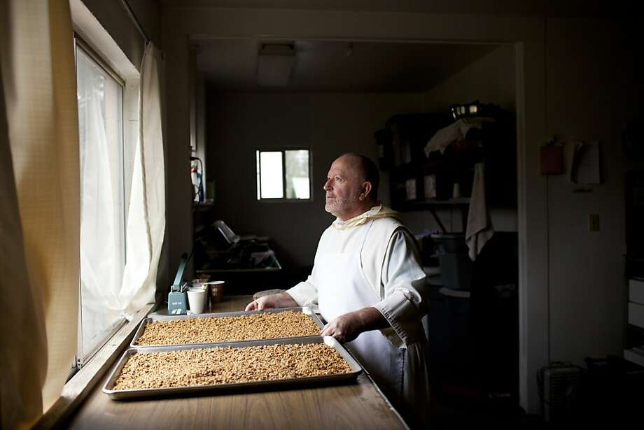 Father Zacchaeus of New Camaldoli Hermitage Monastery makes Holy Granola in Big Sur, Calif., Saturday, November 17, 2012. The monks make money by selling the granola, which they make on-site, and holiday fruit cakes, which are now made off-site in Seaside, Calif. Photo: Jason Henry, Special To The Chronicle